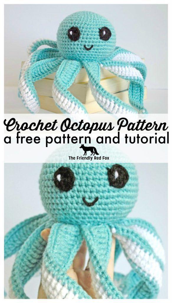 Amigurumi Octopus Baby Toy Free Pattern   Octopus crochet
