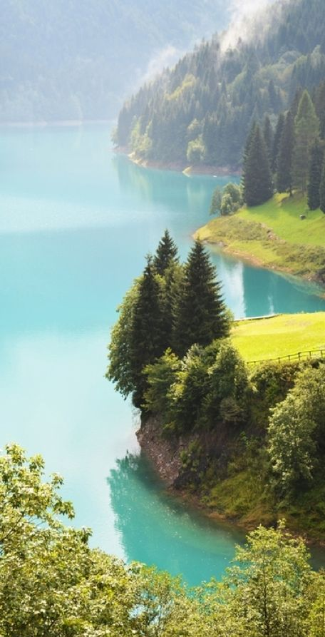 Sauris Lake in northern Italy •