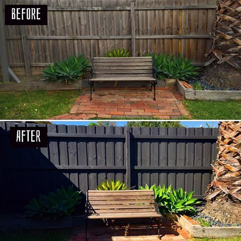 It's 'TRANSFORMATION TUSDAY' and The Fence Painter has done it again, making a lovely backyard in Bundoora Melbourne look brand new.  3 coats of the very popular Monument Dulux Weathershield Low Sheen.  From $2.50 a metre, a change of colour can make a whole lot of difference.  0412 765 575 today!  #TheFencePainter #FencePainting #FencesOfInstagram #Painting #SprayPainting #ForeverPainting #Monument #Dulux #DuluxPaint #Weathershield #LowSheen #Bundoora #Melbourne #BackYard #HomeRenovation…