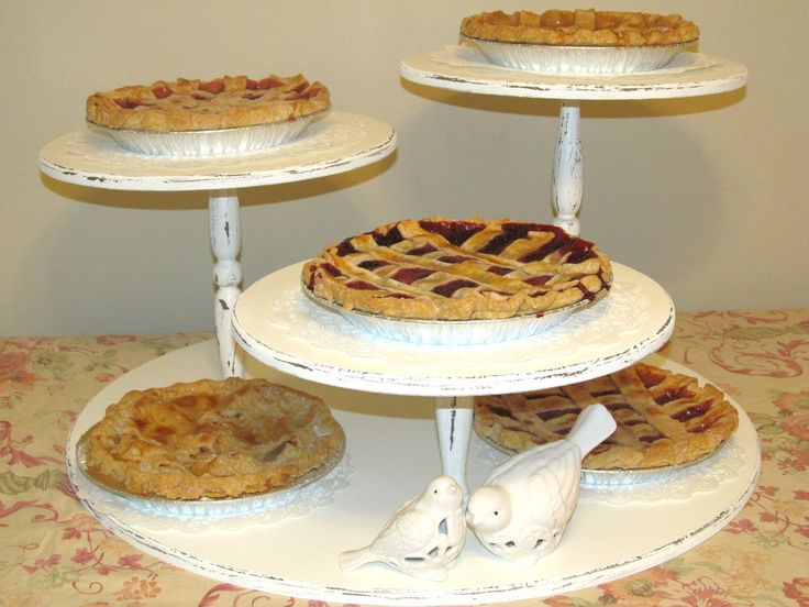 Cupcake Stand, Vintage, Shabby Chic, Rustic, distressed finish. Dessert or Pie Display. $165.00, via Etsy.