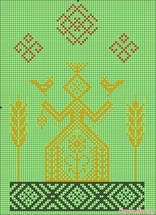 Даждьбог Летний, Белобог, Засеянное поле (Макошь)