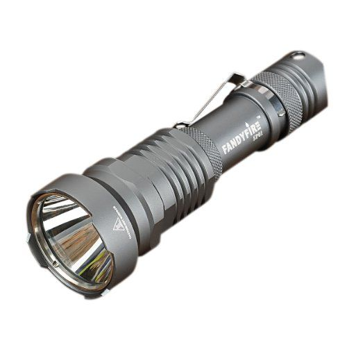 Camping Flashlights - Pin It :-) Follow Us :-)) zCamping.com is your Camping Product Gallery ;) CLICK IMAGE TWICE for Pricing and Info :) SEE A LARGER SELECTION of camping flashlights at http://zcamping.com/category/camping-categories/camping-lighting/camping-flashlights/ - hunting, camping, flashlights, camping lighting, camping gear, camping accessories -FANDYFIRE SP01 Cree XM-L T6 500lm 5-Mode White Flashlight – Grey (1 x 18650) « zCamping.com