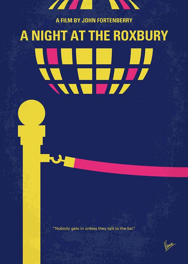 No864 My A Night At The Roxbury Minimal Movie Poster