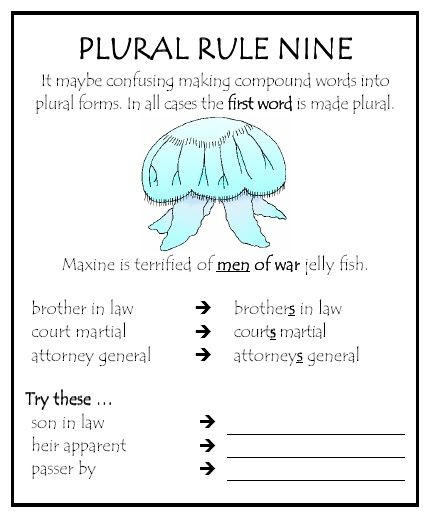 plural rule 9 - Google Search