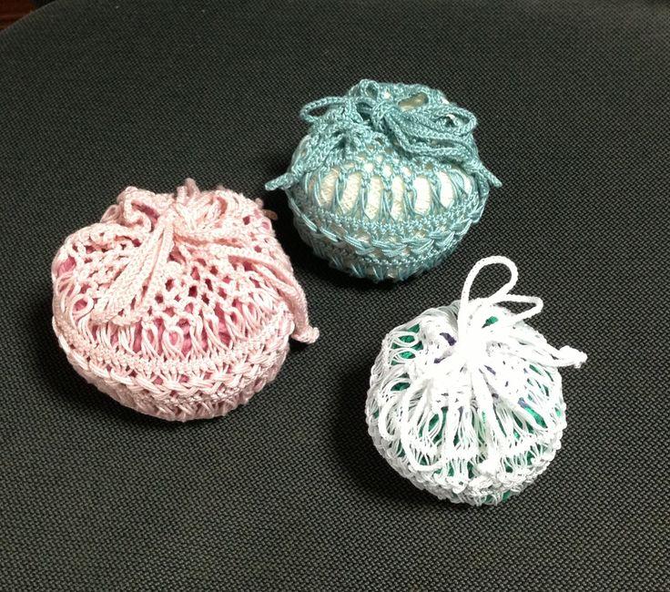 Hairpin lace / Drawstring purse bag