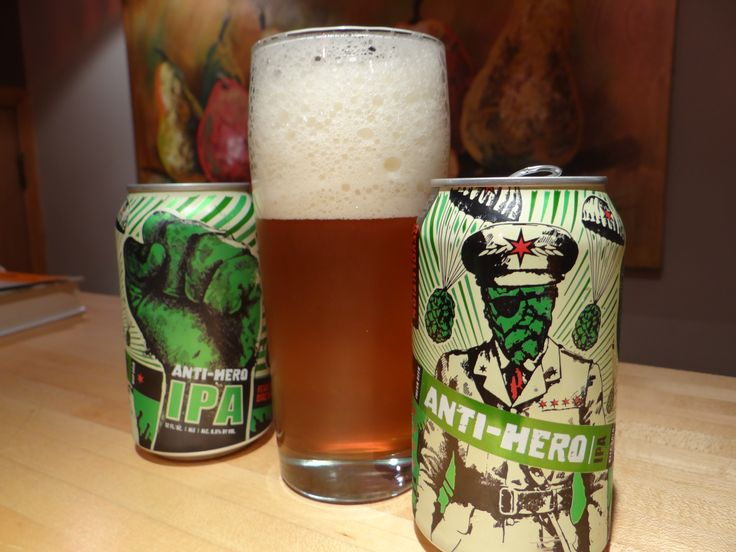 "Anti Hero IPA - have to say just ""ok"" at best.  Didn't help its cause that I had another local Chicago brewery IPA right after it and that one was leaps and bounds better."