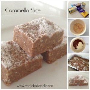 Caramello No Bake Slice  www.createbakemake.com