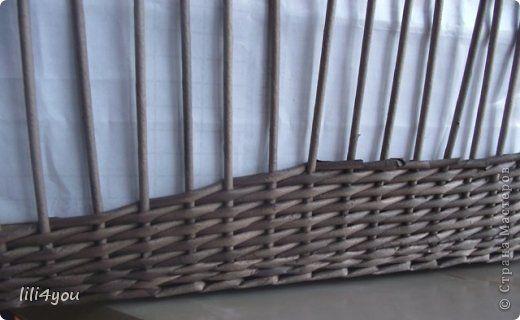 Мастер-класс Поделка изделие Плетение Мои хитрости плетения послойки в прямоугольных корзинах Бумага газетная Трубочки бумажные фото 7