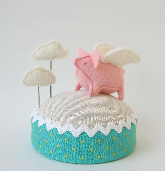 Adorable. Flying Pig Pincushion