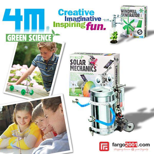 Kembangkan kreatifitas, imajinasi dan inspirasi anak-anak Anda dengan mainan edukatif dari 4M Green Science ! http://fargo2001.com/perlengkapan-bayi-amp-anak-anak-128/mainan-edukatif-74/kid-science-86