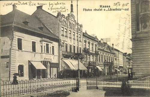 """Kassa; Fő utca részlet a """"Lőcsei ház""""-zal   Képcsarnok   Hungaricana"""