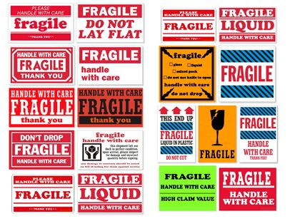 Print Free Fragile Shipping lables
