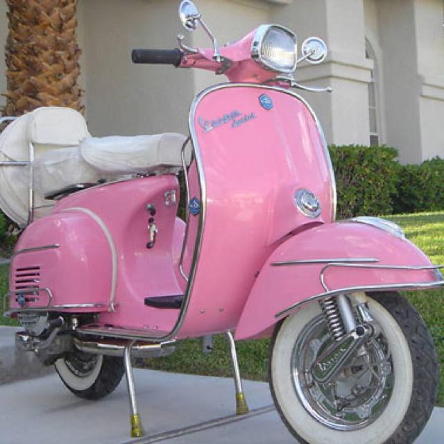 Pink vespa scooter | Etsy