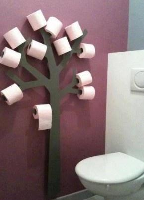 gezien op pinterest,handig in de wc
