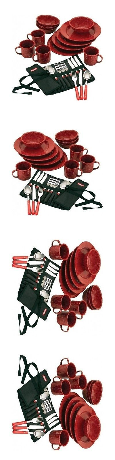 Camping Cooking Utensils 87133: Outdoor Dining Sets Camping Eating Utensils Equipment Coleman Dinnerware Plates -> BUY IT NOW ONLY: $56.99 on eBay!