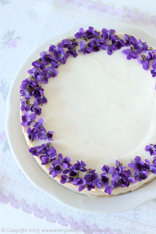 Every Cake You Bake: Violets Cheesecake