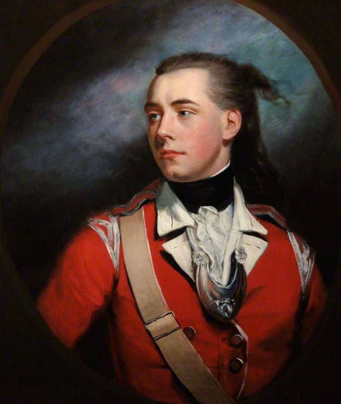 Lieutenant George Dyer, by James Northcote, 1780. Showing his rebellious streak with the fly away hair!