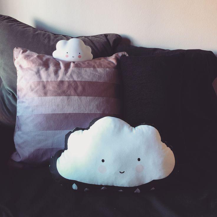 Cojín infantil en forma de nube con dos caras - Minimoi
