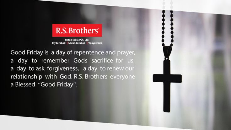 "Praying that the ‪#‎Lord‬'s blessings are always upon you on this ‪#‎GoodFriday‬ and always. ‪#‎RSBrothers‬ wishing you Blessed ""Friday"" to one and all. (Image copyrights belong to their respective owners)"