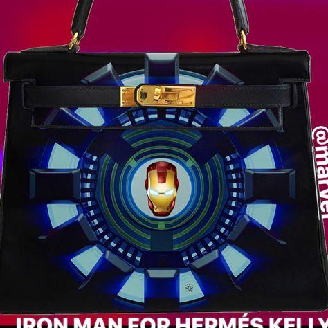 HERMÉS KELLY BAG BY ARTBURO. Hand painted. Exceptional piece. Art by ARTBURO Personalization. Sell by 47000$ . All money goes for Charity. #artburo #hermes #handpaintedhermes #Sothebys #Christies #alisakovtunova #birkin #oneofakind #fashion #art #luxury #millennials #ironman #marvel