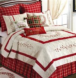 Berry Wreath King Quilt