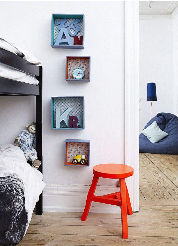 Härligt hemma | Snygga hyllor till barnrummet