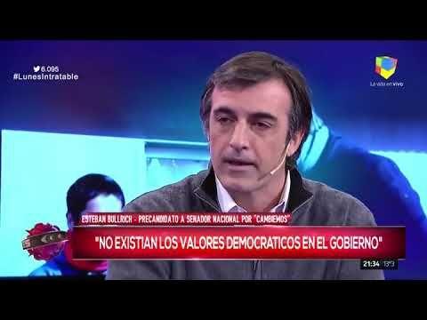 """Esteban Bullrich en Intratables: """"Nos duele la realidad que vemos"""""""
