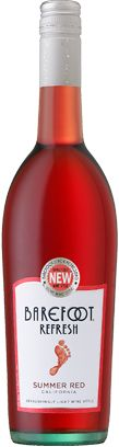 Barefoot Refresh Wines |  Summer Red  - sweet, light, slightly carbonated - a little like drinking a wine cooler, but better