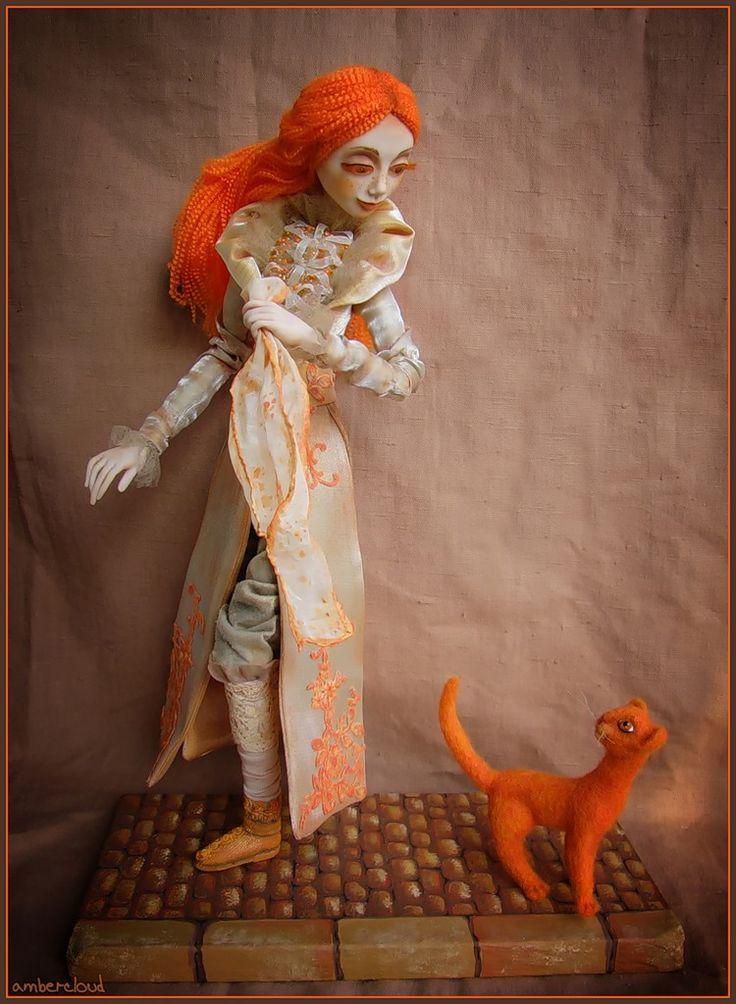 Рыжая встреча*** doll, dollart, hand made, ©ambercloud, авторская кукла