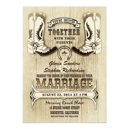 317 best western wedding invitations images on pinterest | western, Wedding invitations