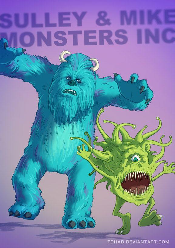 FR : C'est un duo composé d'un colosse et d'un petit excité, non ce n'est pas Arnold Schwarzenegger et Danny DeVito mais Sullivan et Wazowski de Monstres et Cie. L'industrie des Monstres ...