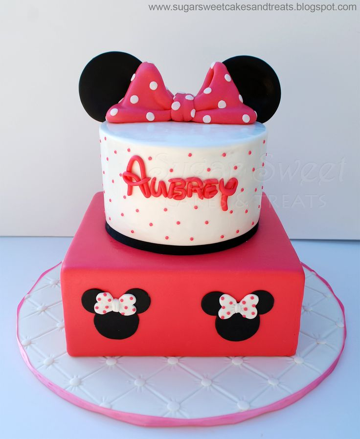 Minnie Mouse Birthday Cake 6 Inch Round And 8 Inch