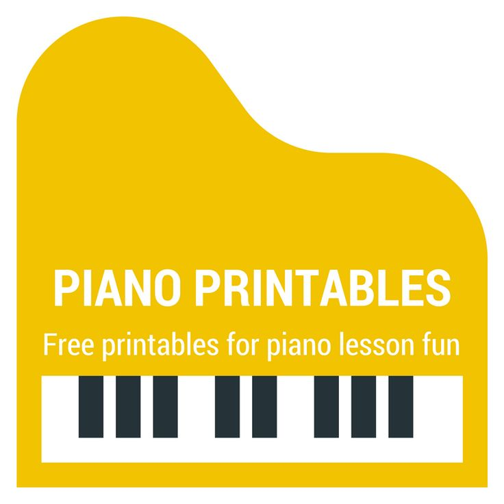 Free printable activities and resources for inspiring piano lessons.