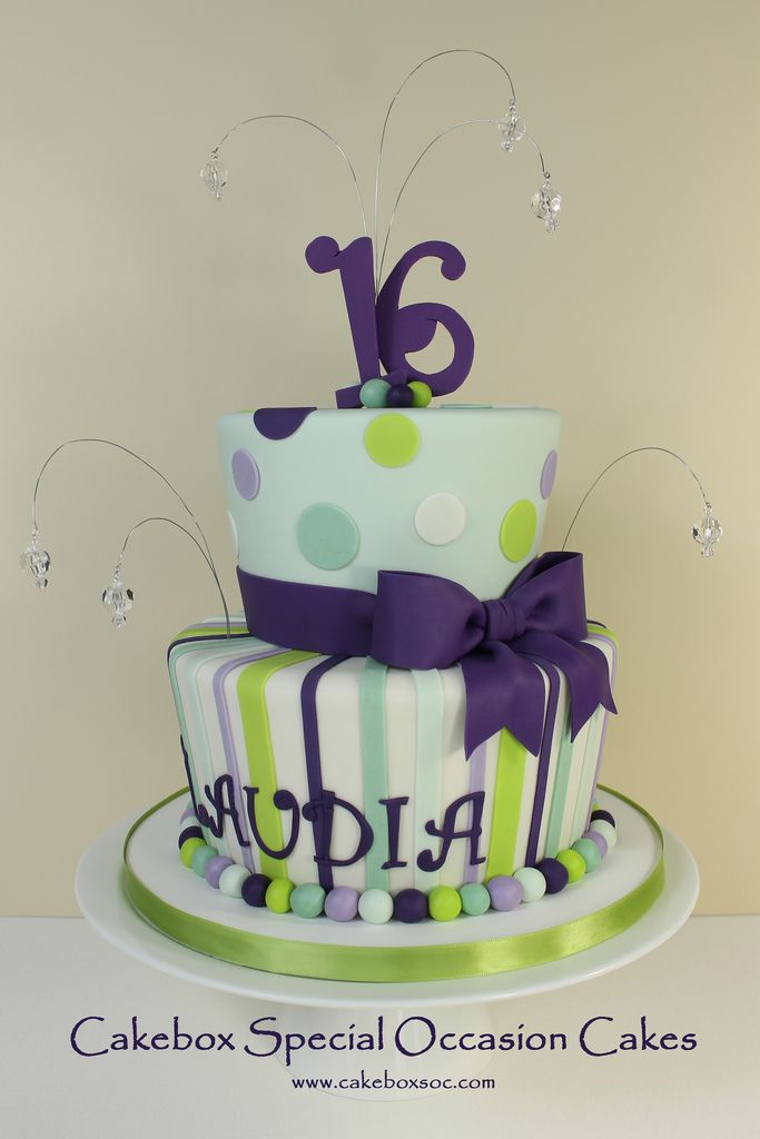 Sweet 16 birthday cake for Claudia...