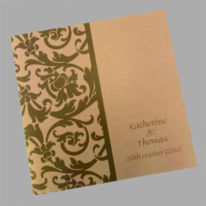 Unusual wedding invitations. These can be printed in a huge variety of colour combinations. www.kardella.com