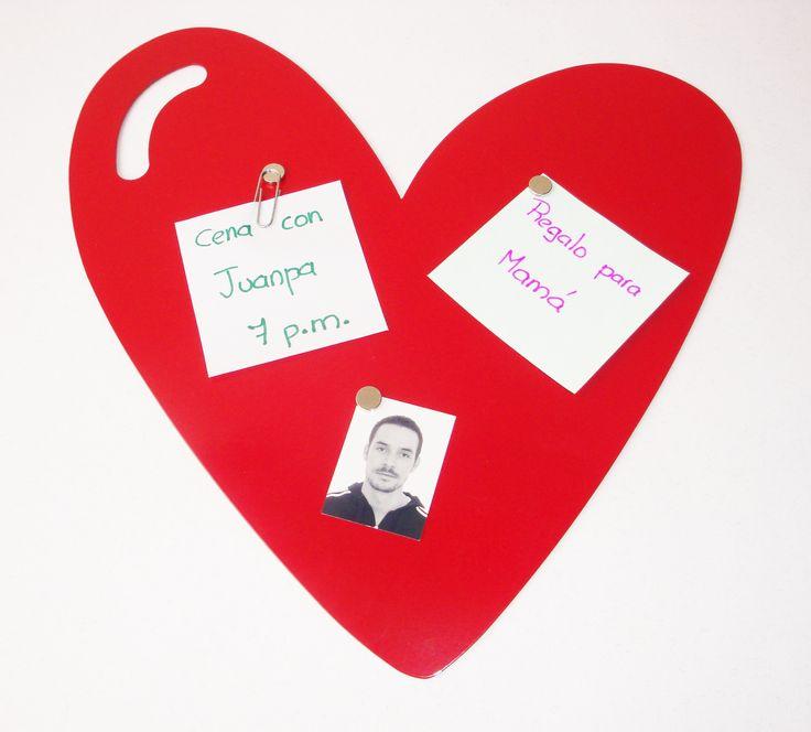 Nombre: Tablero magnetico Corazón + Diseño: Nicolas Estrada G. + Bogotá, Colombia + https://www.facebook.com/nego
