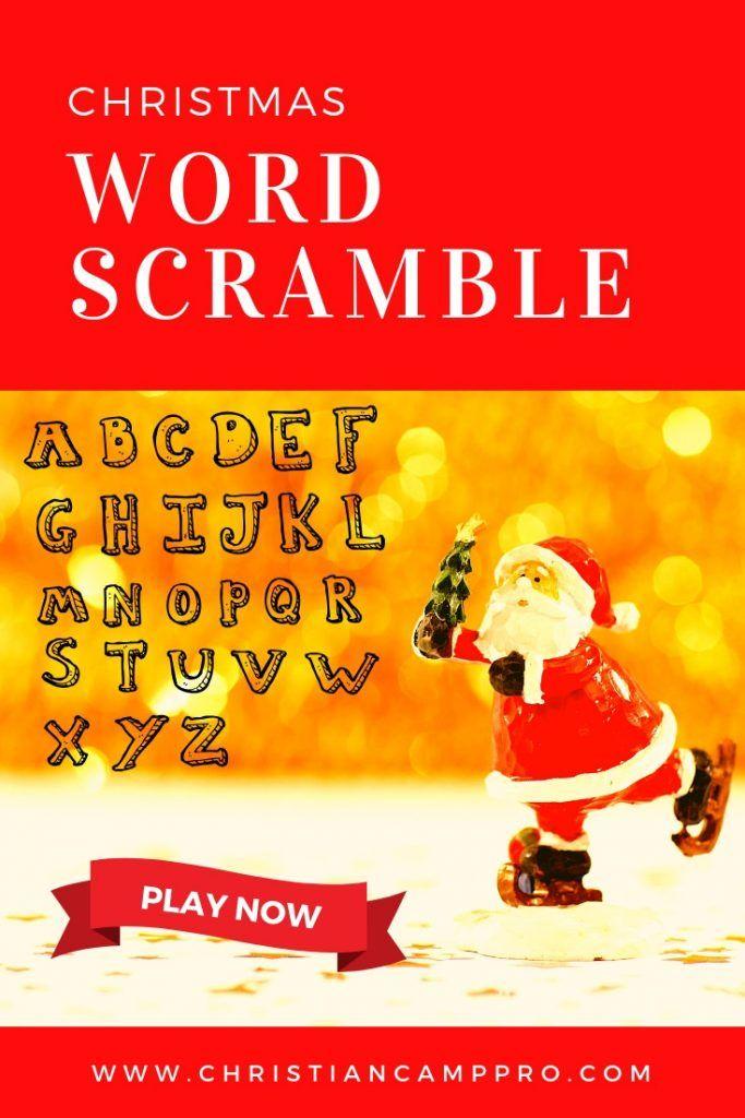 Christmas Word Scramble Game Best Christmas Games Christmas