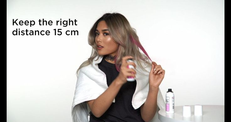 The best way to apply Colorista sprays to your hair to get festival ready and give in to colour