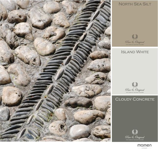 Ancient stone road, Pure & Original colors Moodboard. Cred. Mamen Interiør