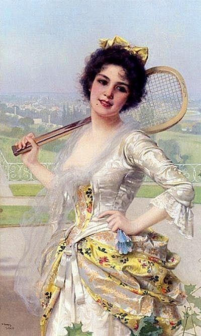 Vittorio Matteo Corcos(1859 - 1933), An Elegant Player
