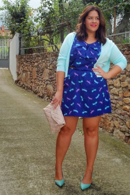 Outfit Lady Mint #LookbookForAll Printed Dress #Curves #Curvy http://vistetequevienencurvas.blogspot.com.es/2013/10/outfit-lady-mint.html