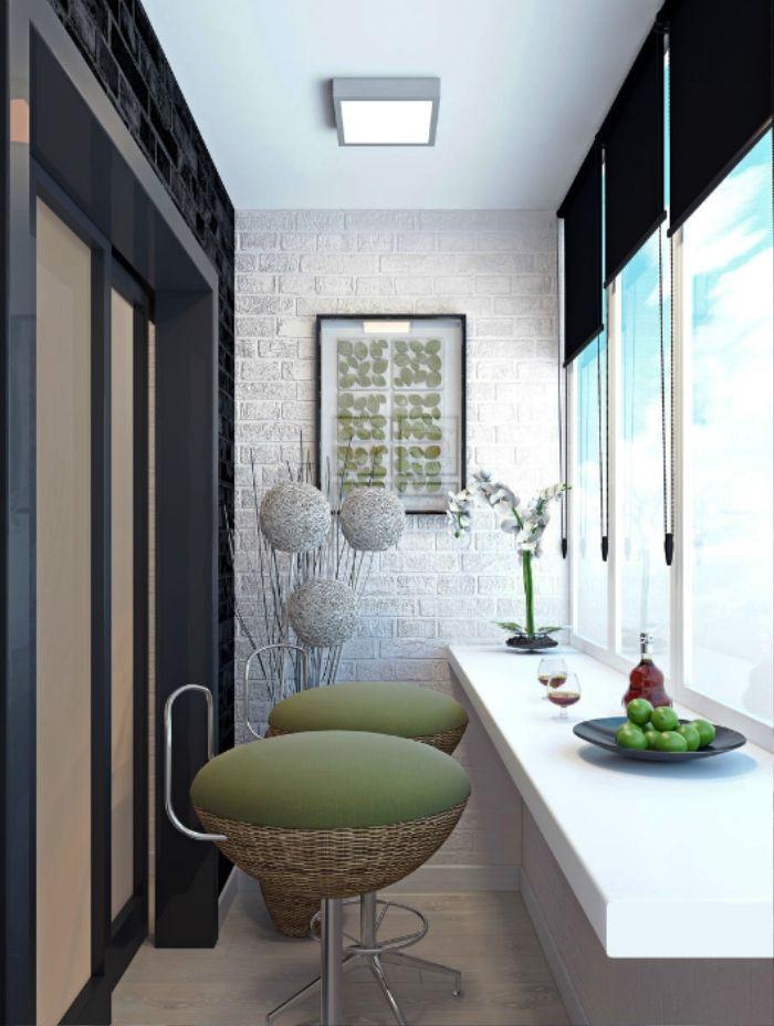 12 стильных вариантов оформления балкона - Фото Дизайн интерьера