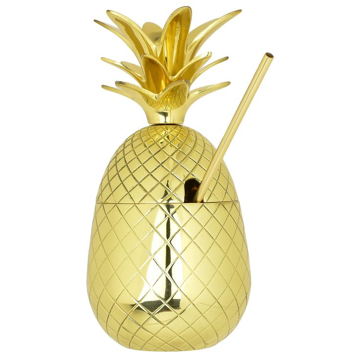 The Royal Hawaiian Pineapple Tumbler ~ Gold 27 Ounce
