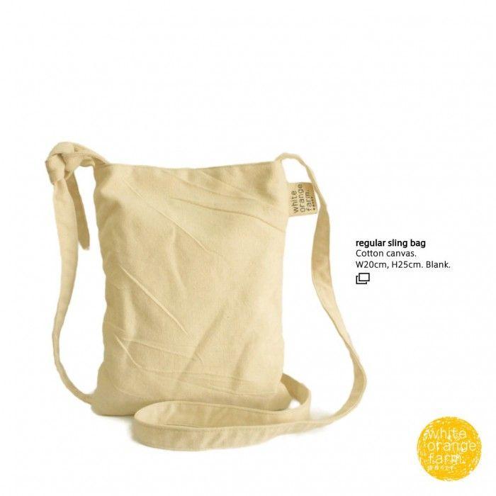 Regular Sling Bag #whiteorangefarm #mosseash #handmade #handmadebag #cotton #canvas