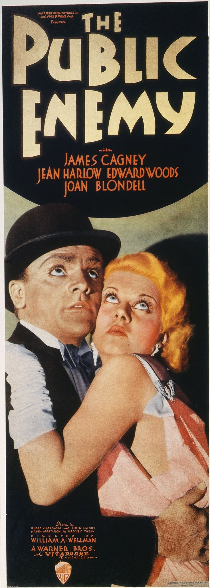 """""""The Public Enemy"""". Gangster classic with James Cagney and Jean Harlow."""