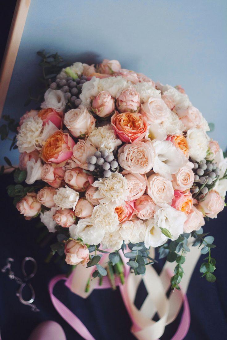 pink, wedding bouquet, bridal, bride, bouquet, букет невесты, свадьба, rose, roses, pink roses, pink, розовый, brunia, бруния, vuvuzela rose, роза вувузела, pink wedding