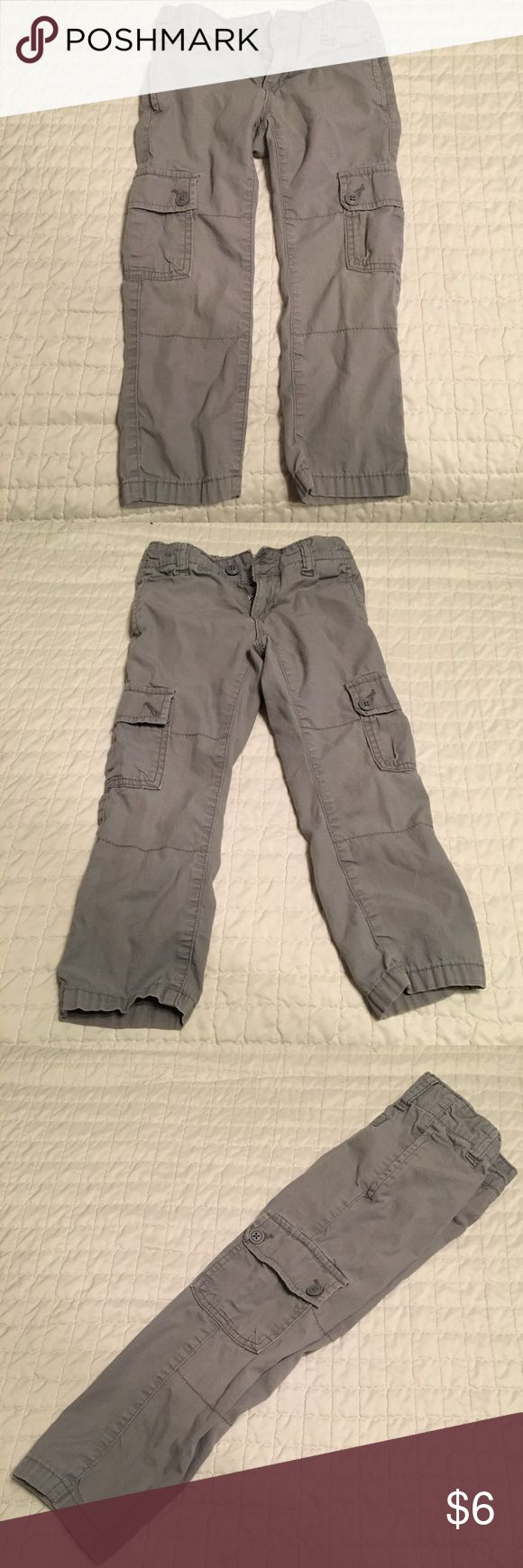 3 FOR $10! Old Navy Skinny Cargo Pants Excellent used condition, worn once, grey skinny cargos by Old Navy. Very nice pair of pants. Plenty of photos. Definitely fit smaller end of 4T so they make a great transition from 3T. Old Navy Bottoms Casual