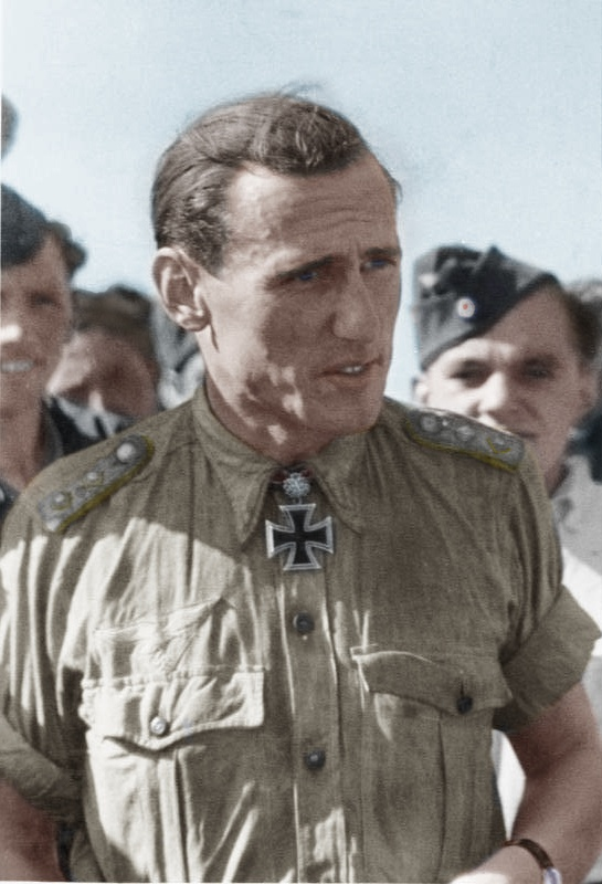 Günther Rall He flew a total of 621 missions, and was shot down no less than 8 times, being wounded 3 times during which he shot down a total of 275 enemy aircraft, including 3 on the Western Front to become the third highest scoring fighter pilot in history.