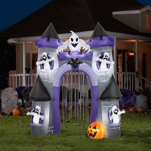 9 airblown inflatable haunted castle archway halloween decoration new - Blow Up Halloween Decorations