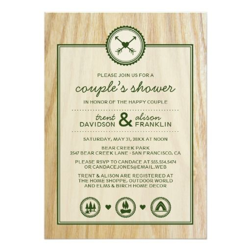 Woodsy Wedding & Glamping Couple's Shower